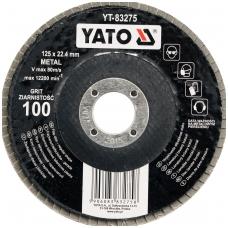 Šlifavimo diskas lapelinis plokščios formos 125mm P120