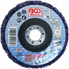 Šlifavimo diskas su abrazyvine medžiaga 100 x 16 mm, juodas