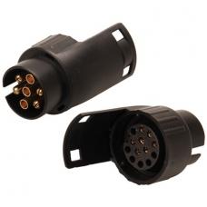 Adapteris priekabos kištukui iš 7 į 13 kontaktų ISO 1724