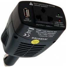 Adapteris/inverteris iš 12V cigarečių lizdo į 220V su 5V USB lizdu