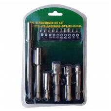 """Adapterių ir antgalių komplektas 1/4""""(6,3 mm) 16 vnt."""