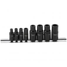 "Adapterių rinkinys sriegikliams 6,3mm (1/4"") - 10mm (3/8"")  8 vnt."