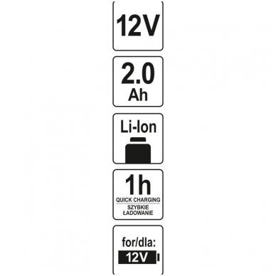 Akumuliatorius - baterija - 12V 2,0AH 60 MIN LI-ION 4