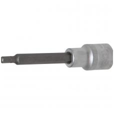 "Antgalis įpresuotas į galvutę  ilgis 100mm. 12,5mm. (1/2"")  hex šešiakampis 5mm."
