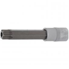 """Antgalis įpresuotas į galvutę ilgis 110mm.12,5mm (1/2"""") T-star su skyle (Torx) T70"""