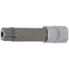 """Antgalis įpresuotas į galvutę lgis 110mm.12,5mm (1/2"""") T-Star su skyle (Torx) T100"""