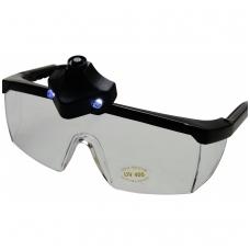 Apsauginiai akiniai su 2 Led diodais
