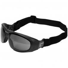 Apsauginiai akiniai su dirželiu tamsūs