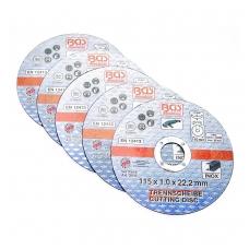 "Pjovimo diskas nerudyjančiam plienui 5vnt.115 x 1.0 x 22.2 mm ""Bgs-technic"""