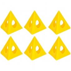 Atramos dažymui, dažymo piramidės 6vnt.