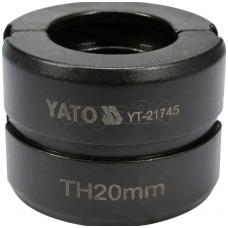 Atsarginis indėklas TH 20 mm presavimo replėms YT-21735