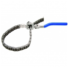 Aukštos kokybės filtro raktas dviguba grandine su rankena 60-160 mm