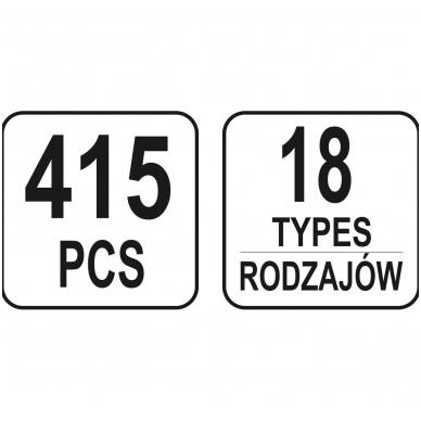 Automobilinis klipsų asortimentas Ford - 415 vnt. 4