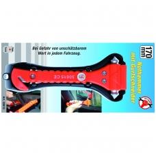 Avarinis plaktukas su saugos diržo nupjovimu