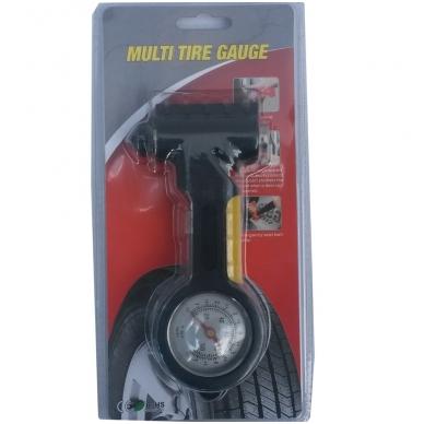Avarinis plaktukas su saugos diržo nupjovimo funkcija ir manometru