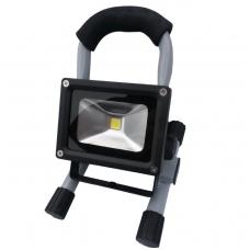 COB LED lempa akumuliatorinė, 10W, su stovu