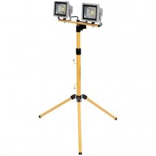 COB LED lempos 2 vnt. su 0.7m - 1.7m stovu 20W, 1400 Liumenų x 2