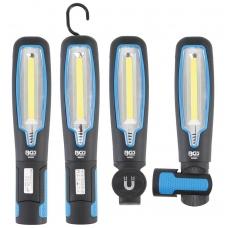 COB LED šviestuvų lempa su magnetu ir kabliu