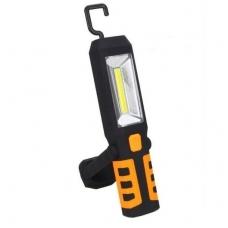 Darbo lempa akumuliatorinė COB LED 3W-240Lm AKU Li-on 2800mAh