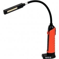 Darbo lempa akumuliatorinė lanksti reguliuojama šviesa  IP54, IK07, PA6+TPR