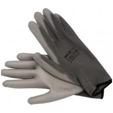 Darbo pirštinės pilkos  nailonas - poliuretanas  10 dydis