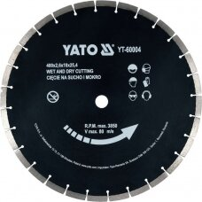 Deimantinis segmentinis pjovimo diskas  400x25,4 mm