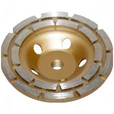 Deimantinis šlifavimo diskas lėkštės tipo 125mm M14, dviejų eilių 5 mm