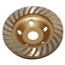 Deimantinis šlifavimo diskas lėkštės tipo 125mm X 22.23 turbo