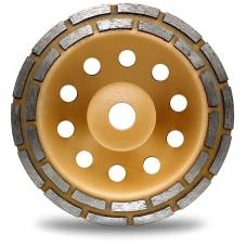 Deimantinis šlifavimo diskas lėkštės tipo dviejų eilių 22.2x180mm.