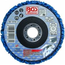 Šlifavimo diskas su abrazyvine medžiaga 100 x 16 mm, mėlynas