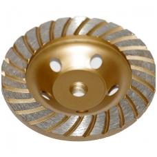Deimantinis šlifavimo diskas lėkštės tipo 125mm, M14 turbo