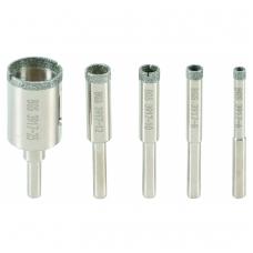 Deimantinių cilindrinių grąžtų rinkinys 6-25 mm, 5 vnt.