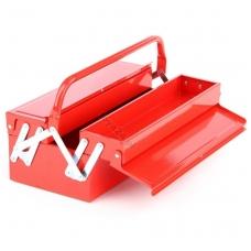 Dėžė įrankiams metalinė 400x210x150 mm. 3 sekcijos