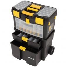 Dėžė įrankiams su ratukais - su išimamomis dėžutėmis