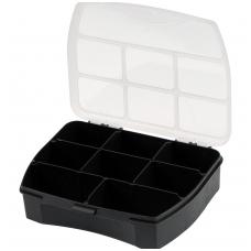 Dėžutė smulkiems daiktams 8 skyrių 120x100x30 mm