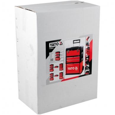 Dėžė įrankiams 3-jų dalių, ant ratukų, metalinė 2