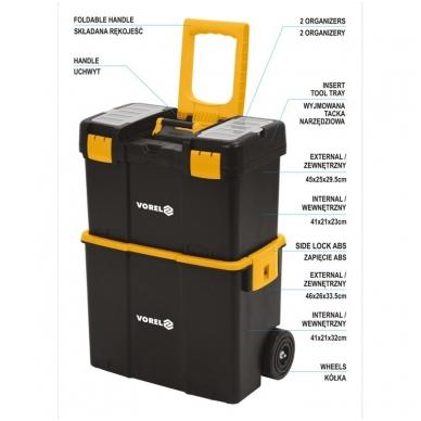 Dėžė įrankiams su ratukais -2-jų dalių 16