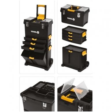 Dėžė įrankiams su ratukais- 3-jų dalių 15