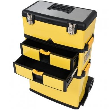 Dėžė įrankiams su ratukais - 3-jų dalių 2