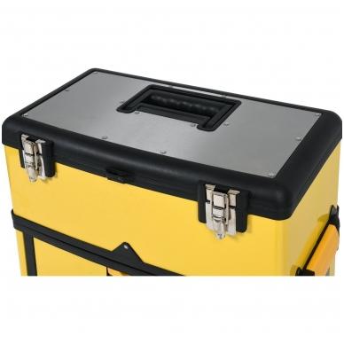 Dėžė įrankiams su ratukais - 3-jų dalių 6