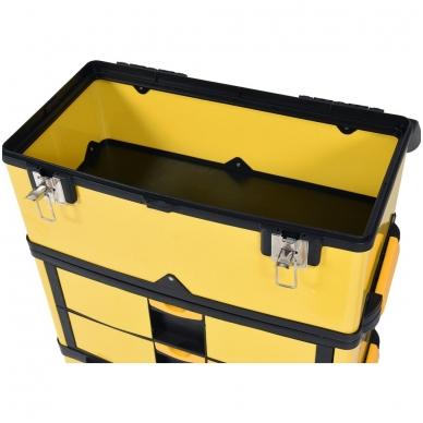 Dėžė įrankiams su ratukais - 3-jų dalių 7