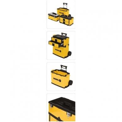 Dėžė įrankiams su ratukais - 3-jų dalių 15