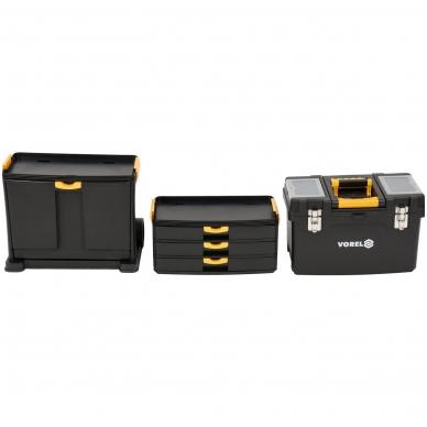 Dėžė įrankiams su ratukais- 3-jų dalių 7