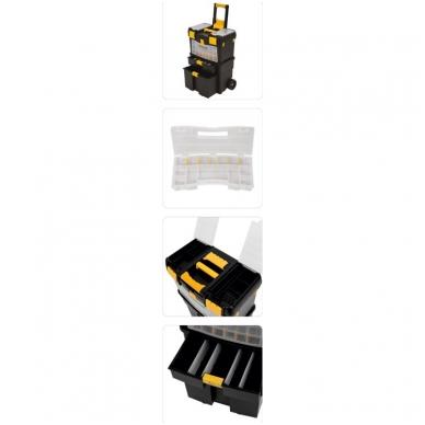 Dėžė įrankiams su ratukais - su išimamomis dėžutėmis 12