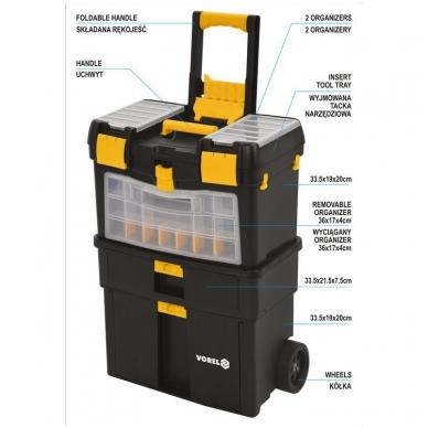 Dėžė įrankiams su ratukais - su išimamomis dėžutėmis 13