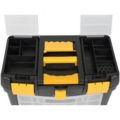 Dėžė įrankiams su ratukais - su išimamomis dėžutėmis 7