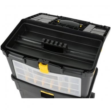 Dėžė įrankiams su ratukais - su išimamomis dėžutėmis 9