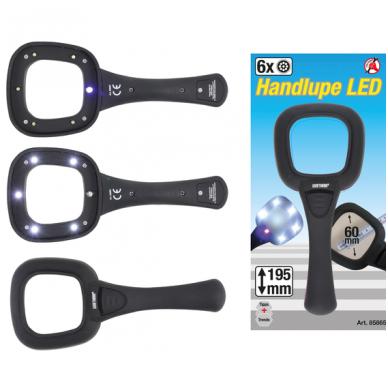 Didinamasis stiklas- lupa - LED ()