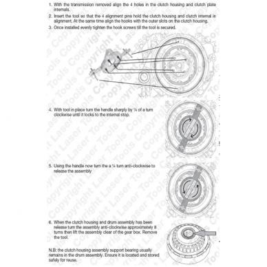 Dvigubos sankabos įrankis Volvo, Ford, Chrysler, Dodge 4