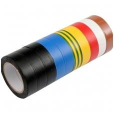Izoliacinių įvairiaspalvių juostų rinkinys 10 vnt: 15mmx10mx0,13mm